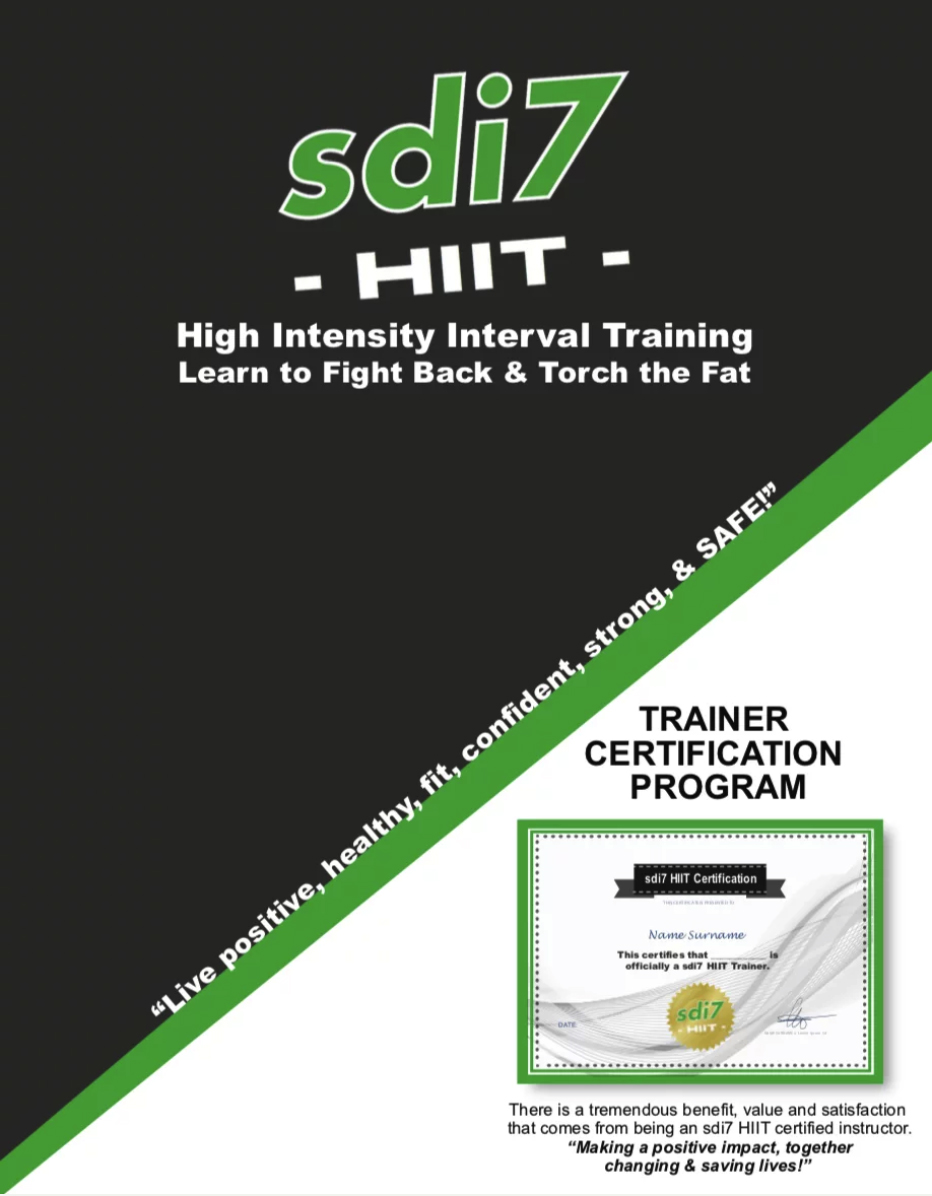 Sdi7 Hiit Sdi7 Hiit Trainer Certifications Change Lives And Save